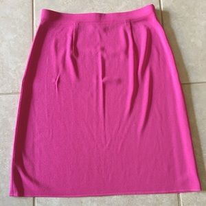 Misook Pink Skirt Knit To Knee Elastic Waist